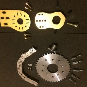 Kit Overion motor mount+transmission pour Matrix2 or (Copier)