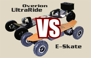 Comparatif Ultraride mountainboard vs E-skate