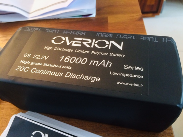 Lipo Overion 6S16Ah